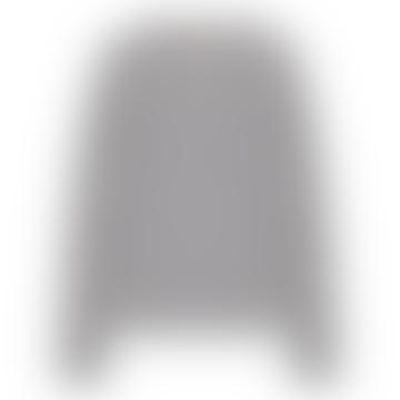 Light Gray Melange Cashmere Round Neck Cardigan