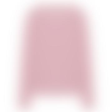 Pink Cashmere Round Neck Cardigan