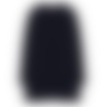 Dark Blue Polyamide and Viscose Cardigan