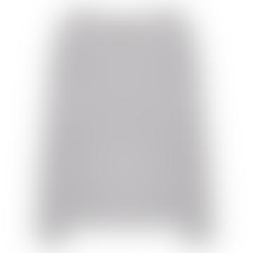 Light Gray Melange Cashmere Round Neck Long Sleeve Sweater