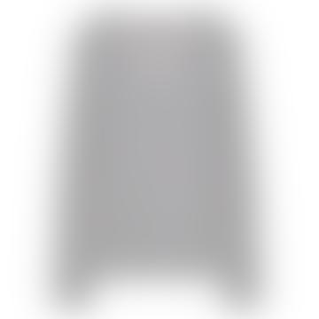 Light Gray Melange Cashmere V Neck Sweater