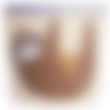 Tan Cotton Canvas Sloth Storage Bin