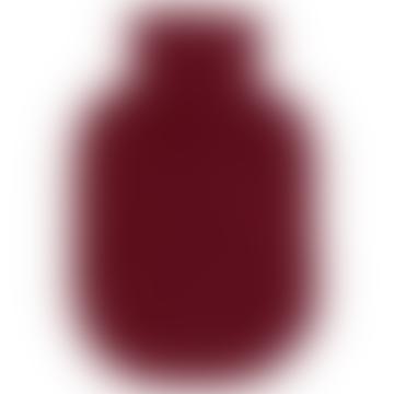 engage Bordeaux Cashmere Hot Water Bottle Cover