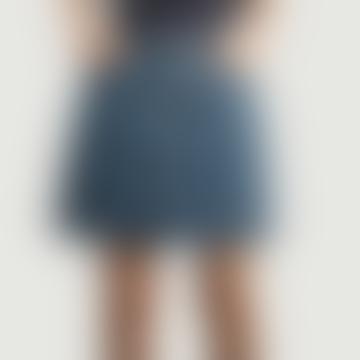 Indigo Delave Denim Cotton Standard Skirt