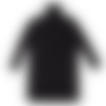 Wool Turtleneck W Splits Black