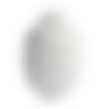 Jonathan Adler Round White Porcelain Matt Gala Vase