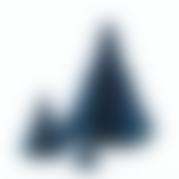 Papierweihnachtsbaumsatz Orion Blau