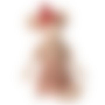 Maileg Medium Cotton and Linen Chrismas Mouse Girl Doll
