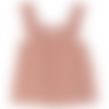 Terracotta Cotton Shoulder Straps Top