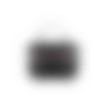 Mini Light Black Python Leather Maths Bag