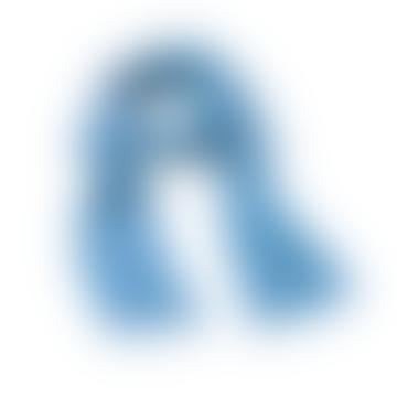 ZUZUNAGA Bitmap Long Life Blue Scarf