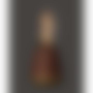 One Cordless Table Lamp Walnut Satin Brass