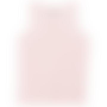 Powder Pink Cotton Red Apple Print Tank Top