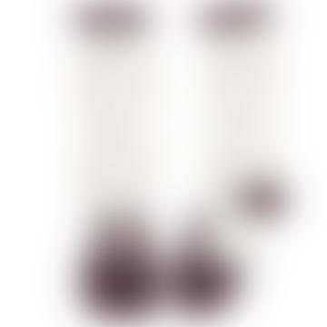Burgundy Cotton Bunny Drawing Polka Dot Children Socks