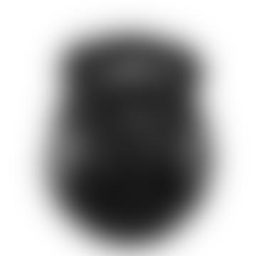 Black Rattan and Glass Oval Lantern