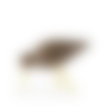 Medium Brass Walnut Shorebird