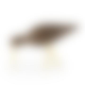 Large Brass Walnut Shorebird