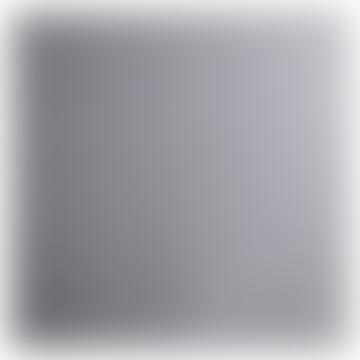 Square Grey Black Metal und Mirror Smoked Glass