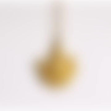 50cm Gold Brass Sacred Heart Long Necklace
