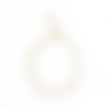 sept cinq Gold Plated Brass Heart Knit Bracelet