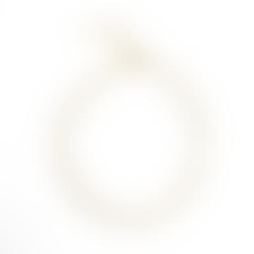 sept cinq Gold Plated Brass Rectangular Mesh Bracelet