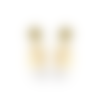 sept cinq Beige Gold Amphore Latte Earrings