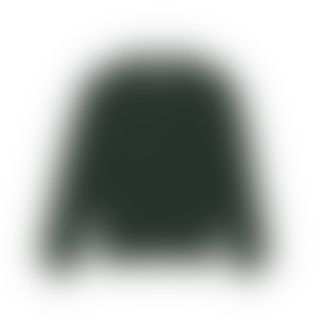 Jägergrün gewaschener Merinopullover
