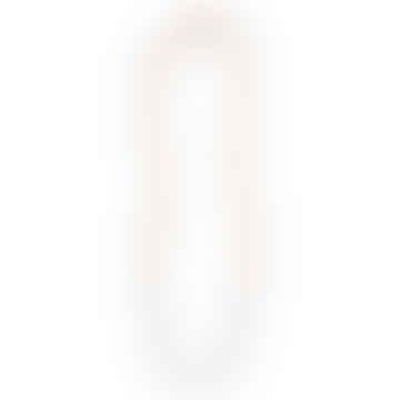 Halskette Rizo mit 24 Karat vergoldeten Glasperlen - Cloud Grey