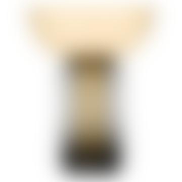 AYTM Large Black and Amber Glass Torus Vase