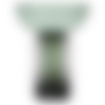 AYTM Large Black and Forest Glass Torus Vase