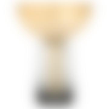15cm Amber Glass Torus Vase