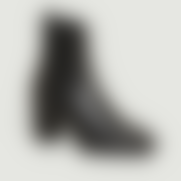 Black Leather Olga Ankle Boots