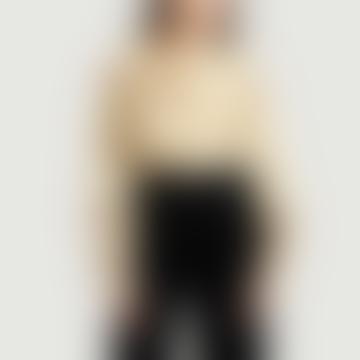 Leon & Harper Ecru Cotton Cyrus Floral Pleated Shirt