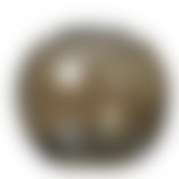 Brown Mundgeblasenes Glas Amma Runde Vase