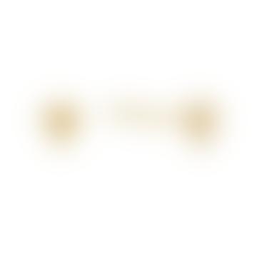 Modern Minimalism Triple Ball Stud Earrings in Gold