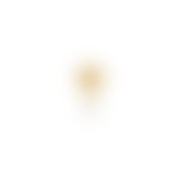 1.7 x 0.8cm Gold Plated Single White Quartz Gold Coin Stud