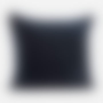 60 x 60cm Blue Petrol Cotton and Velvet Pillowcase