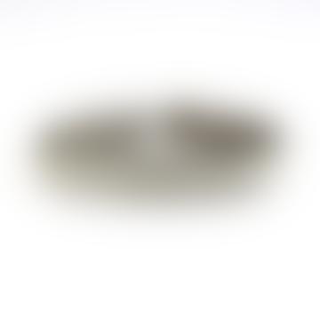 S 19 Croco Grey Leather Silver Braided Arctic Bracelet