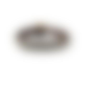 S20 Dark Brown Leather Silver Braided Classic Bracelet