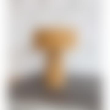 Mustard Linen Mushroom Lamp