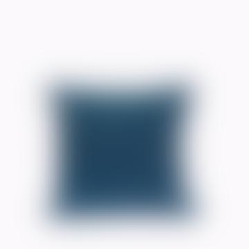 Jamini Ladakh Pillowcase - Navy Blue / 16x16 Inches
