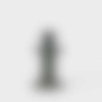 14cm Green Ceramic Idriss Candle Holder