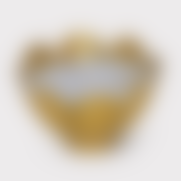 Gold Iron and Wax Lotus Waxlight Holder