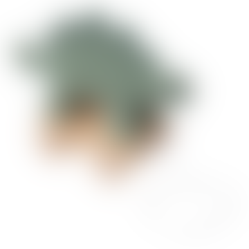 Sebra Green Dinosaur Plush Crochet on Pulling Wheels