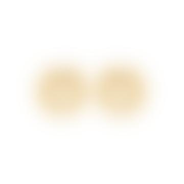 Gold Laurel Crown BO Earrings