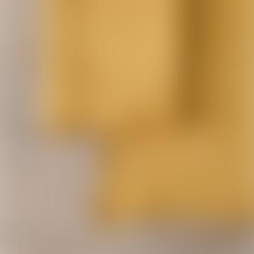 Balakata Turmeric with Gold Edge Linen Placemat