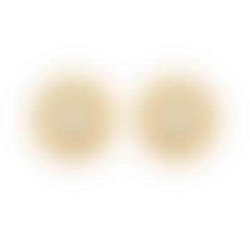 Gold Sun Fleas BO Earrings