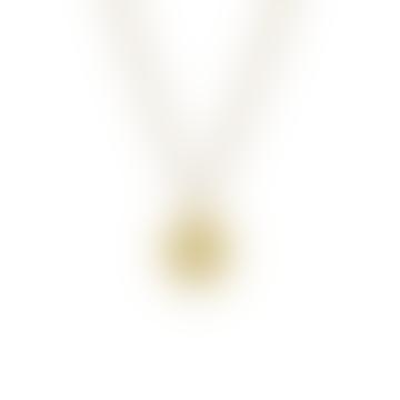 Gold Leo Zodiac Pendant