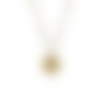 Gold Aquarius Zodiac Pendant
