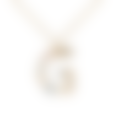 Sparkling Initial necklace Gold letter G